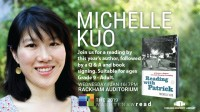 picture of Michelle Kuo and her book, Reading with Patrick
