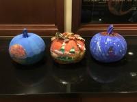 Image of painted pumpkins