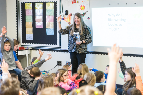 Photo of Dori Hillestad Butler at North Creek Elementary