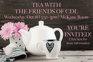 Image of Tea with CDL Friends Invitation