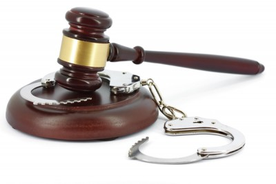 Image of gavel and handcuffs