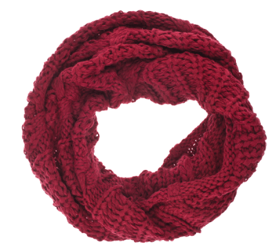 image of red infinity scarf