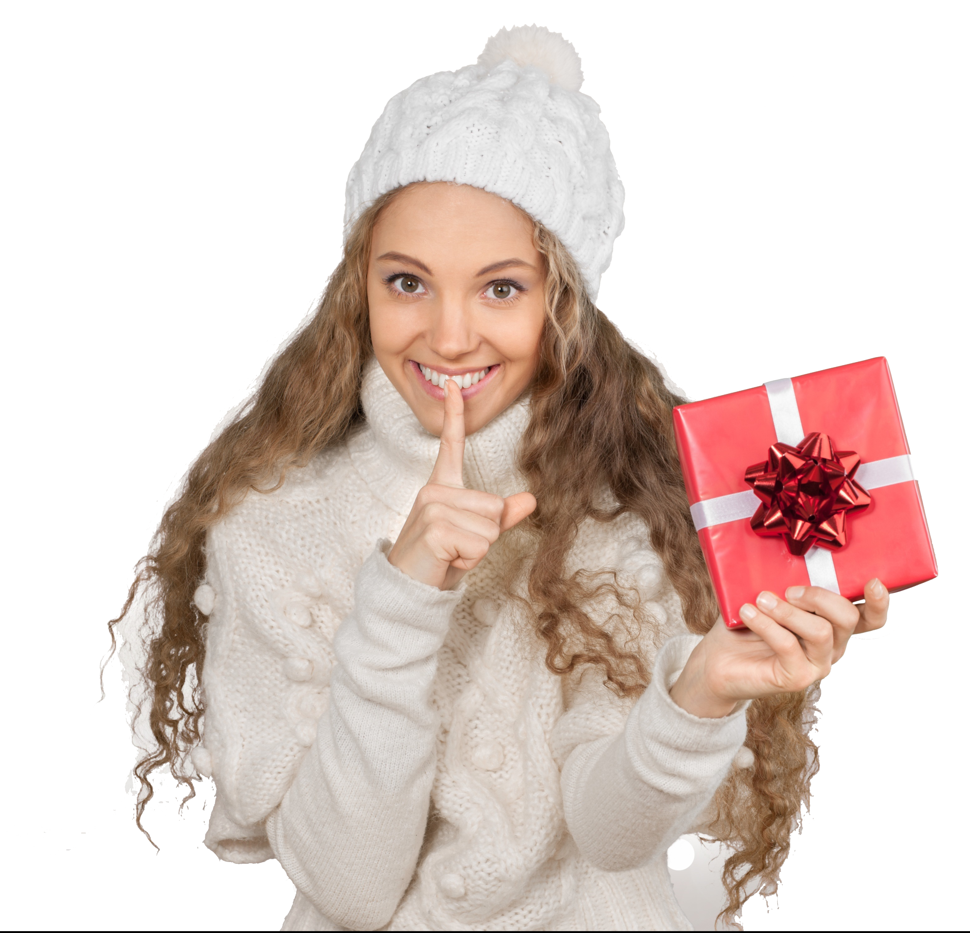 Image of teen holding gift
