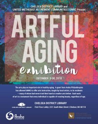Artful Aging Exhibition Poster