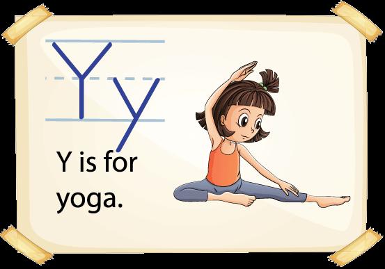 image of child doing yoga