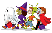 image of Halloween trick-or-treaters