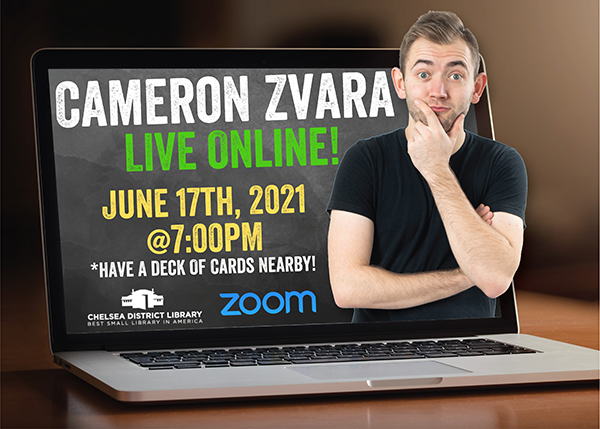 image of Cameron Zvara and a laptop