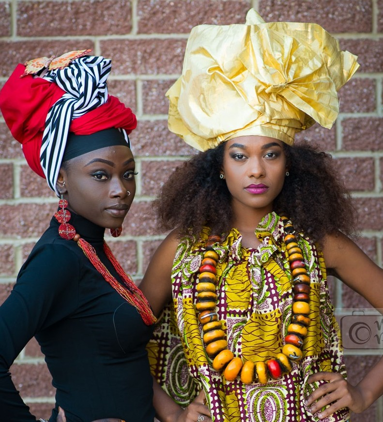 Image of models with head wraps