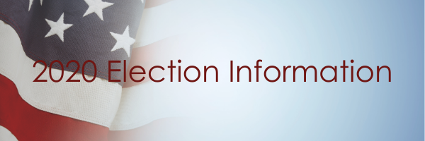 image of flag and text 2020 election Information