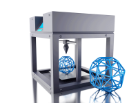 image of 3D printer and object