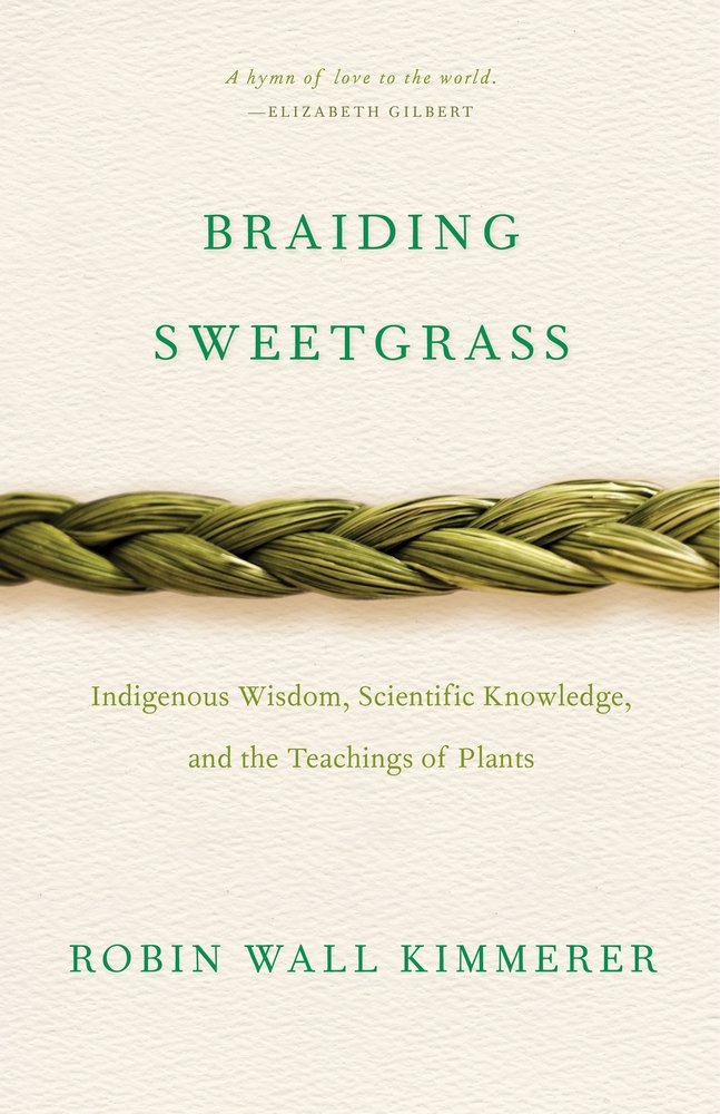 book cover of Braiding Sweetgrass
