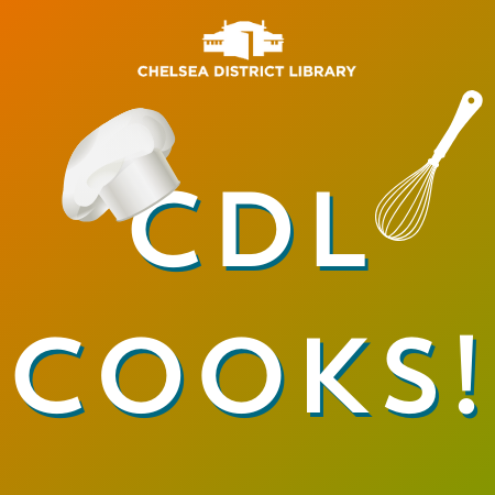 text CDL Cooks with chef hat and whisk