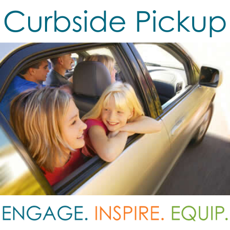 Image of kids in car with curbside pick-up copy