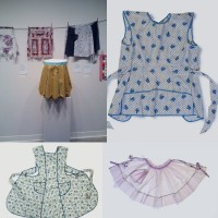 image of collage of aprons
