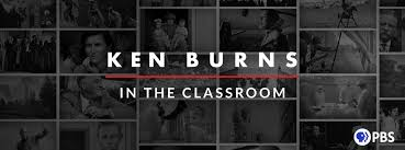 PBS logo and Ken Burns in Classroom