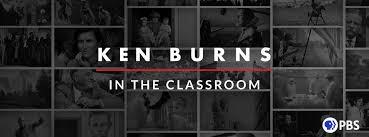 PBS logo and Ken Burns in Classroom