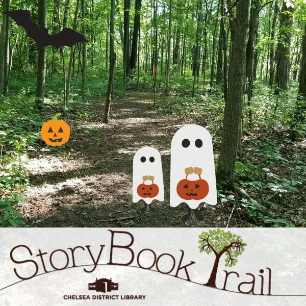 Image of ghosts on StoryBook Trail