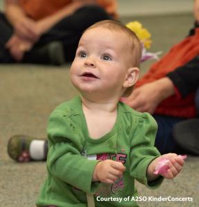 image of little girl enjoying a A2SO Kinderconcert