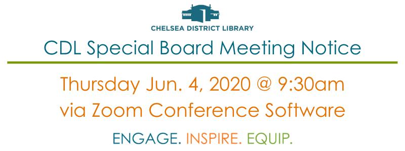 CDL Special Board Meeting Notice June 4, 2020