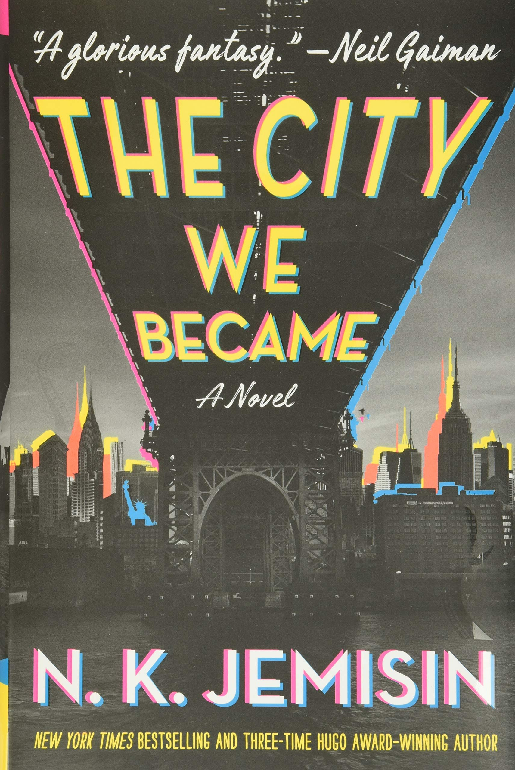 Book cover of teh city we became