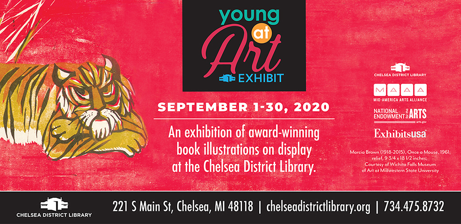 Young At Art exhibition at Chelsea District Library