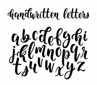 image of calligraphy letters