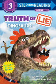 book cover of truth or lie dinosaurs!