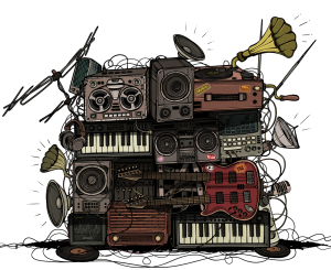 image of bands musical gear