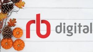 rb digital logo on fall background